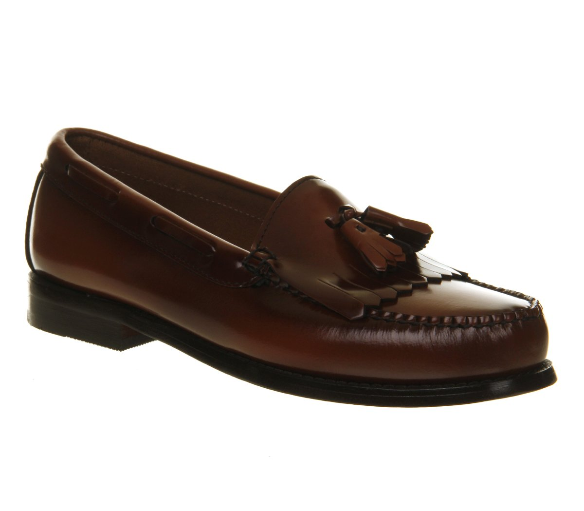 Mens G.H Bass Weejuns Layton Moc Kiltie Loafer Work Office Leather Shoes:  Amazon.co.uk: Shoes & Bags