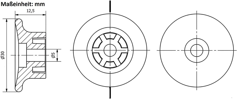 OuM 5 St/ück Seilklemmen//W/ürgeklemmen 6mm