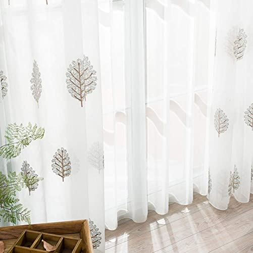 HAOLY Simple Modern White Curtains,Bay Window,Balcony Yarn,Semi Sheer Curtains,Panels,White Sheer Curtains 1pcs-A 400x270cm 157x106inch