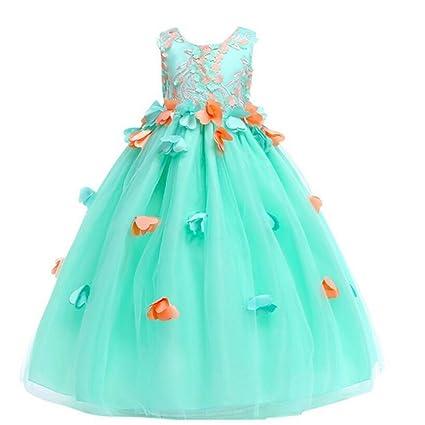 Vestido de princesa para niñas, para boda, dama de honor, fiesta de cumpleaños