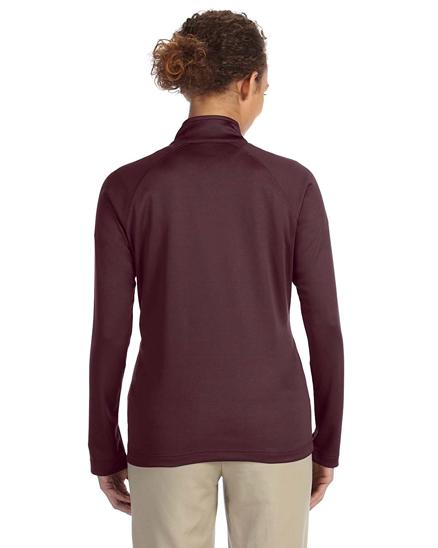 ce1388141cc8a Devon   Jones Ladies  Stretch Tech-Shell Compass Quarter-Zip - BURGUNDY  HEATHER - L at Amazon Women s Coats Shop