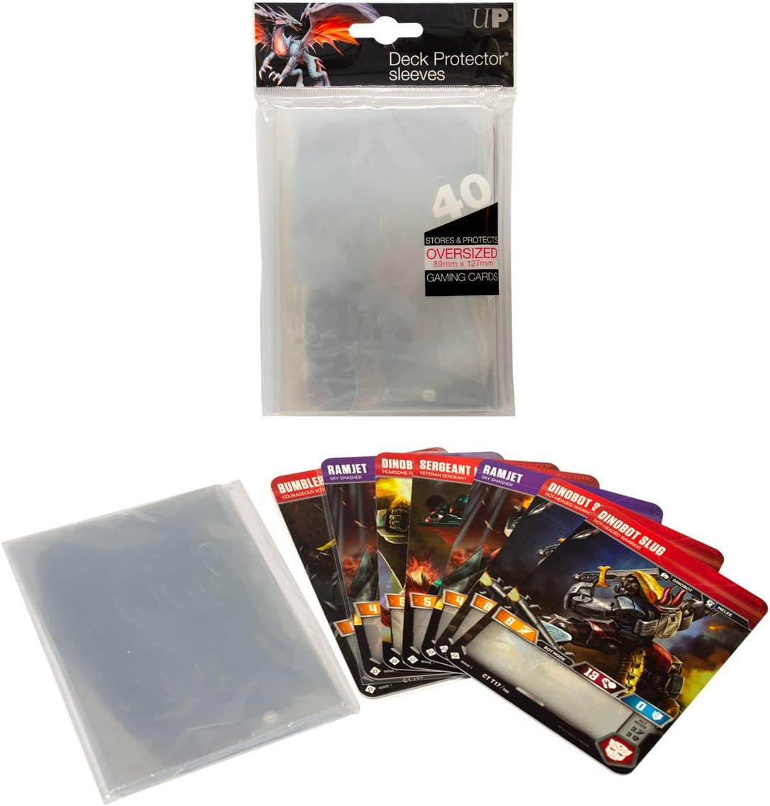 ULTIMATE GUARD Oversized Bundle Black Card Deck Protector Sleeves Precise-Fit