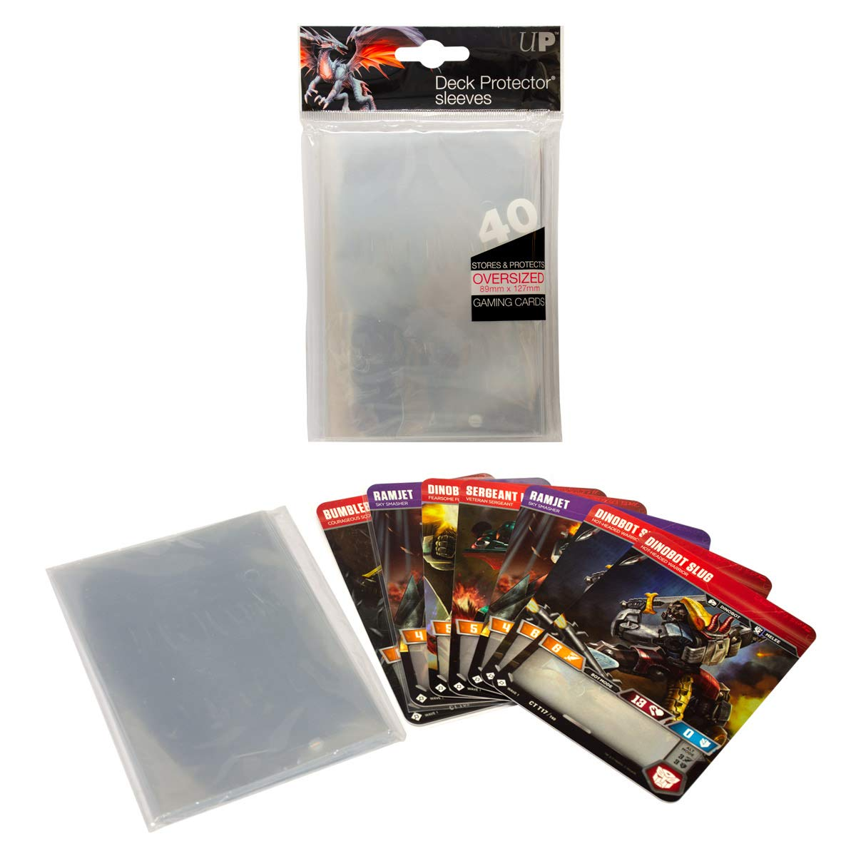 Ultra Pro Oversized Top Loading Sleeves Clear 40 89x127mm