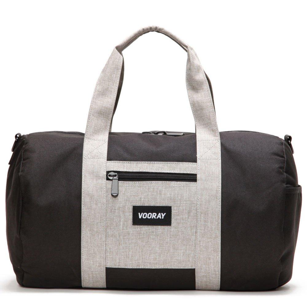 Vooray Roadie 23L Gym Duffel Bag ジム ダッフル バッグ B01BJ47QLG ブラック/ヘザーグレイ ブラック/ヘザーグレイ