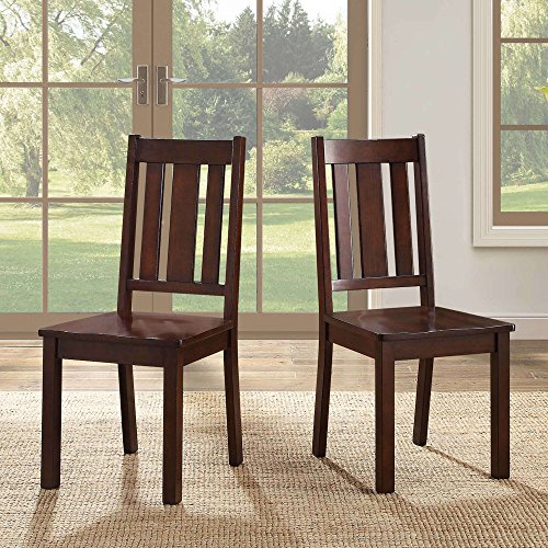- Wooden Dining Chairs, Set Of 2, Sturdy Construction, Back Support, Suitable For Side Chairs, Practical, Perfect For Kitchen, Bistro, Dining Room, Espresso Finish + Expert Guide