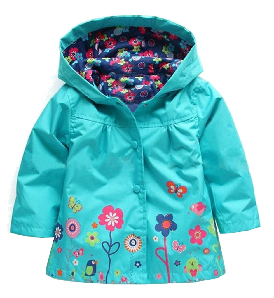 Shiny Toddler Little Girls Kids Waterproof Outdoor Hoodied Coat Jacket Raincoat/Pants