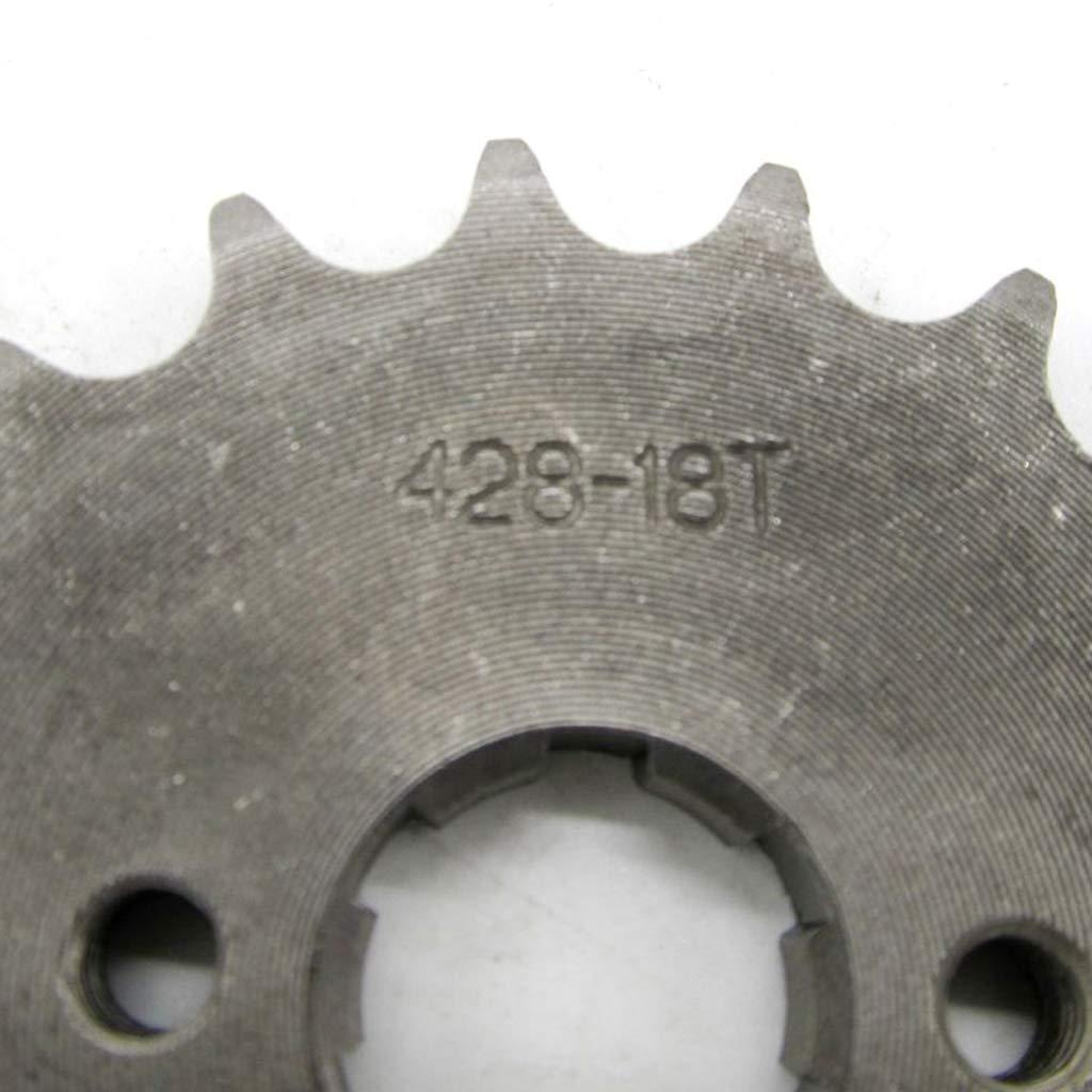 perfk Pignon de Cha/îne Avant de Pit Pro V/élo Dirt Bike Trail Bike 14T Dents 17mm