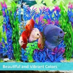 Otterly Pets Plastic Plants for Fish Tank Decorations Large Artificial Aquarium Decor and Accessories - 8-Pack 9