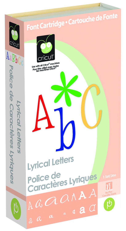 Cricut Cartridge, Lyrical Letters 290708