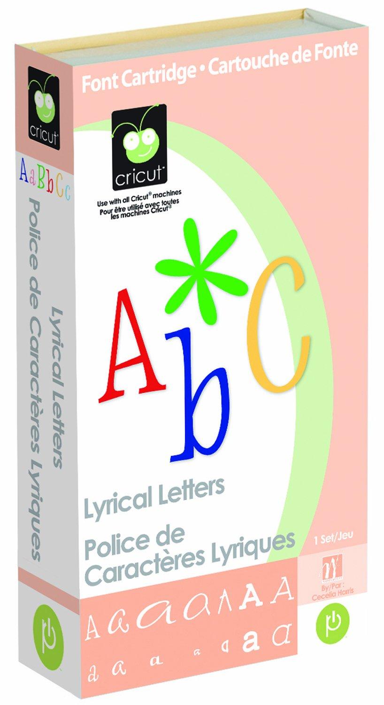 Cricut Cartridge, Lyrical Letters