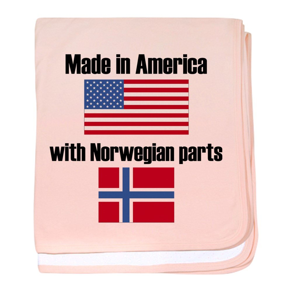 CafePress - Made In America With Norwegian Parts - Baby Blanket, Super Soft Newborn Swaddle