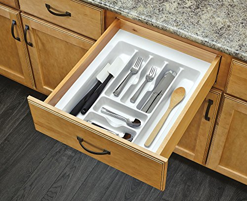 52 - Large White Cutlery Tray Drawer Insert ()