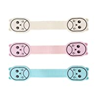 TOYANDONA 3pcs Child Safety Strap Locks Baby Proofing Cabinets Latches for Refrigerator Drawer Door Cupboard