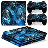 FriendlyTomato PS4 Pro Skin and DualShock 4 Skin - MK Sub - PlayStation 4 Pro Vinyl Sticker for Console and Controller Skin
