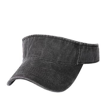 b9aadef8408fd Amazon.com  BCDshop Summer Sun Visor Cap For Women Men Cotton Fashion Sport Outdoor  Caps (Black)  Beauty