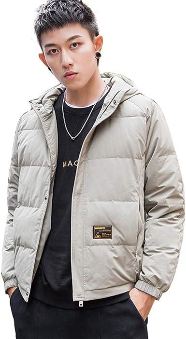 Qifengshop Abajo chaqueta de hombre abrigo de algodón estudiante grueso chaqueta con capucha chaqueta de algodón luz más chaqueta de terciopelo mejor regalo: Amazon.es: Ropa y accesorios
