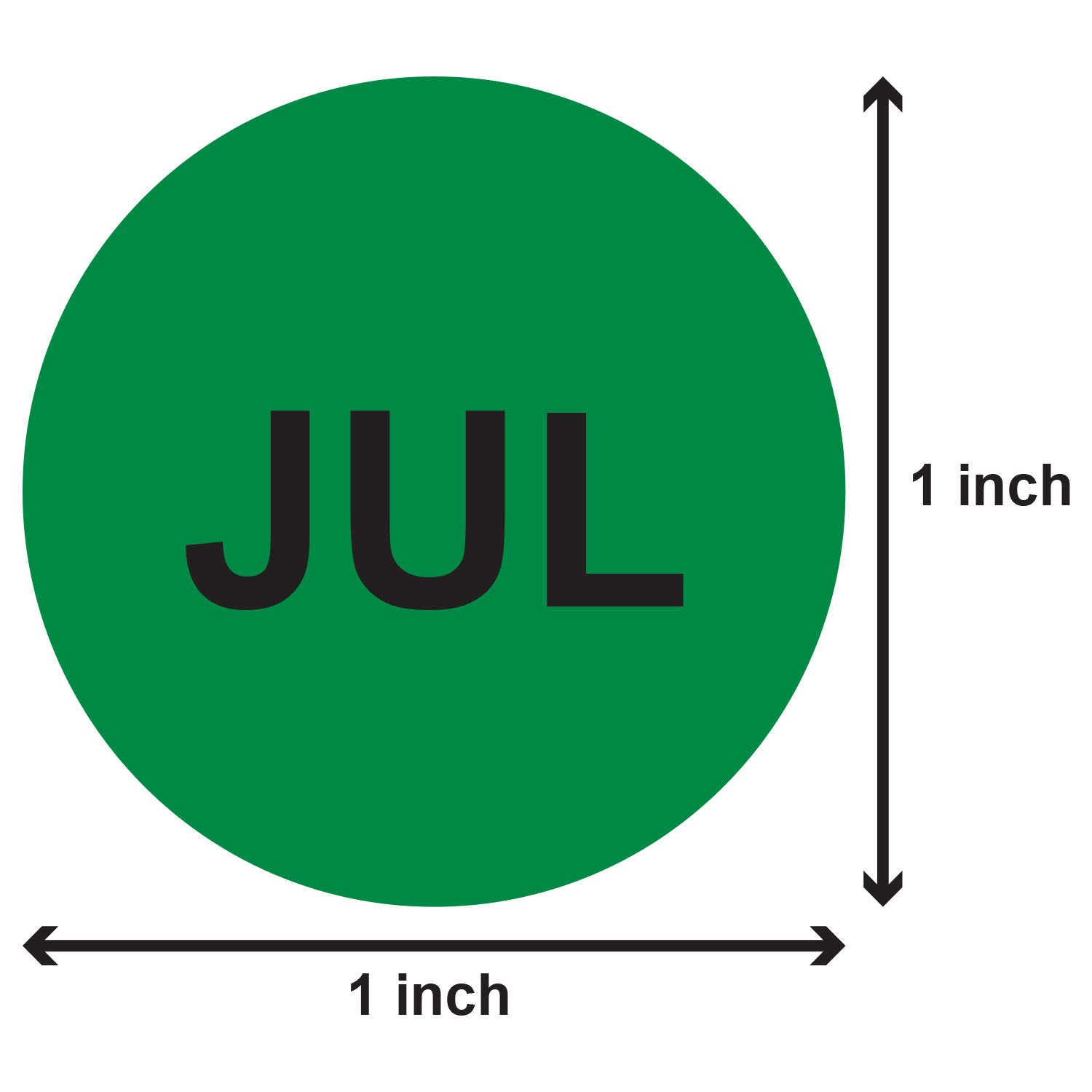 12 Months of the Year Labels Color Coding Dot Round Self Adhesive Stickers (1'' Round Dot Stickers) - 300 stickers per Month - 3600 stickers total by OfficeSmartLabels (Image #8)