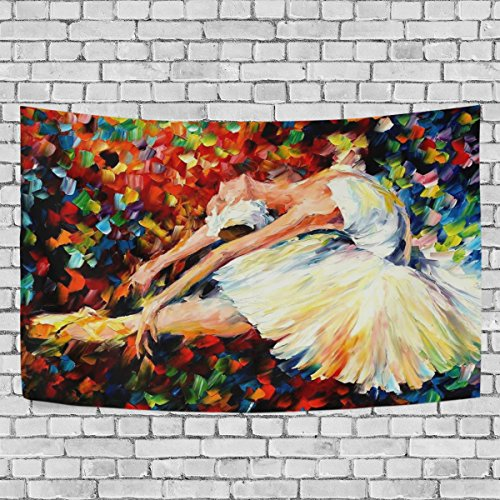 WALLD Ethel Ernest Amazing Ballet Dancer Painting Wall Art Decorative, Wall Hanging Tapestry for Bedroom Living Room Dorm Decoration,90 X 60 Inches