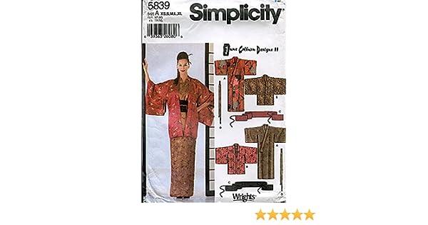 Amazon.com: Simplicity Pattern 5839 June Colburn Designs II Misses ...