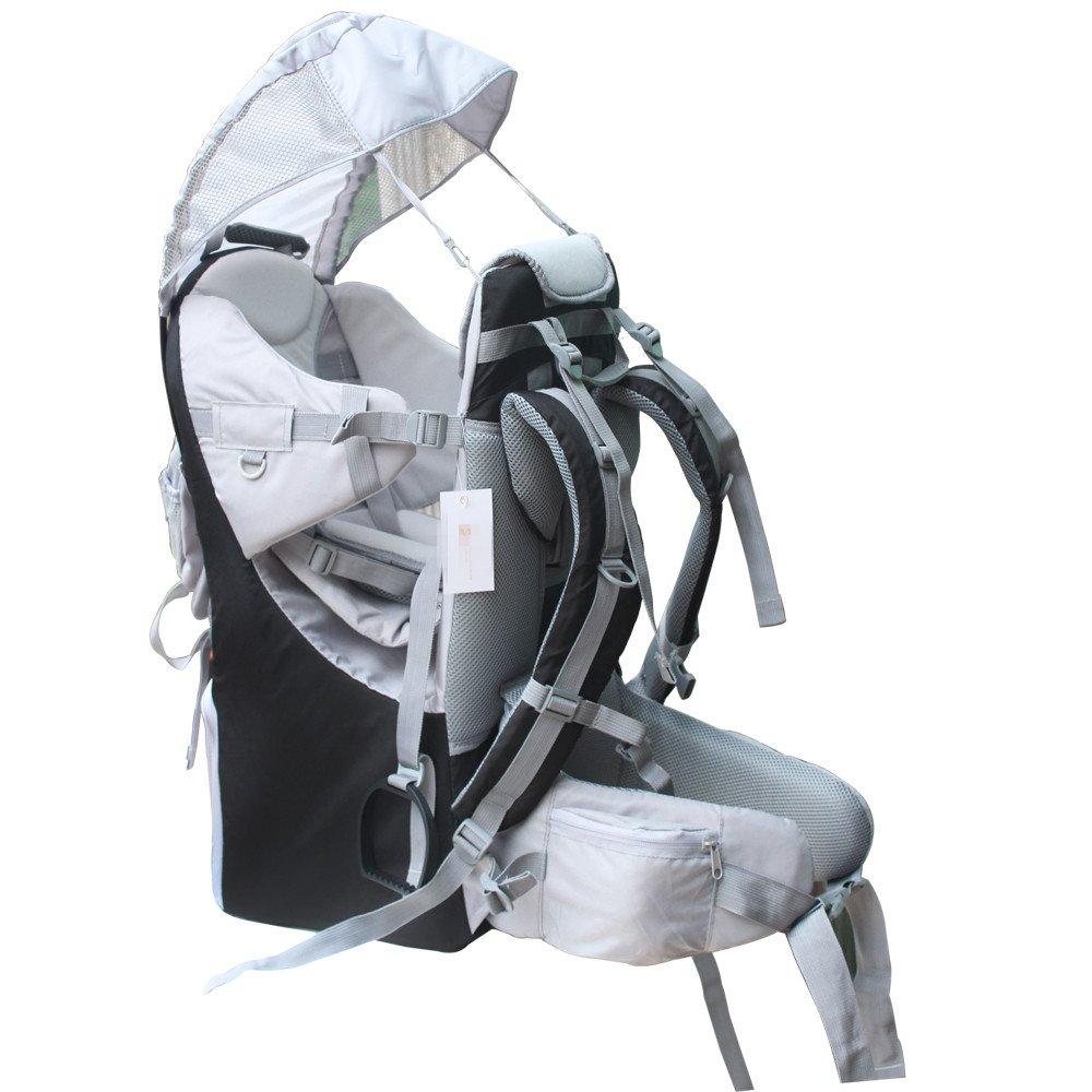新しい赤ちゃん幼児用ハイキングバックパックキャリアスタンド子Kidサンシェードバイザーシールドシールド  ブラック B075L5SF1L