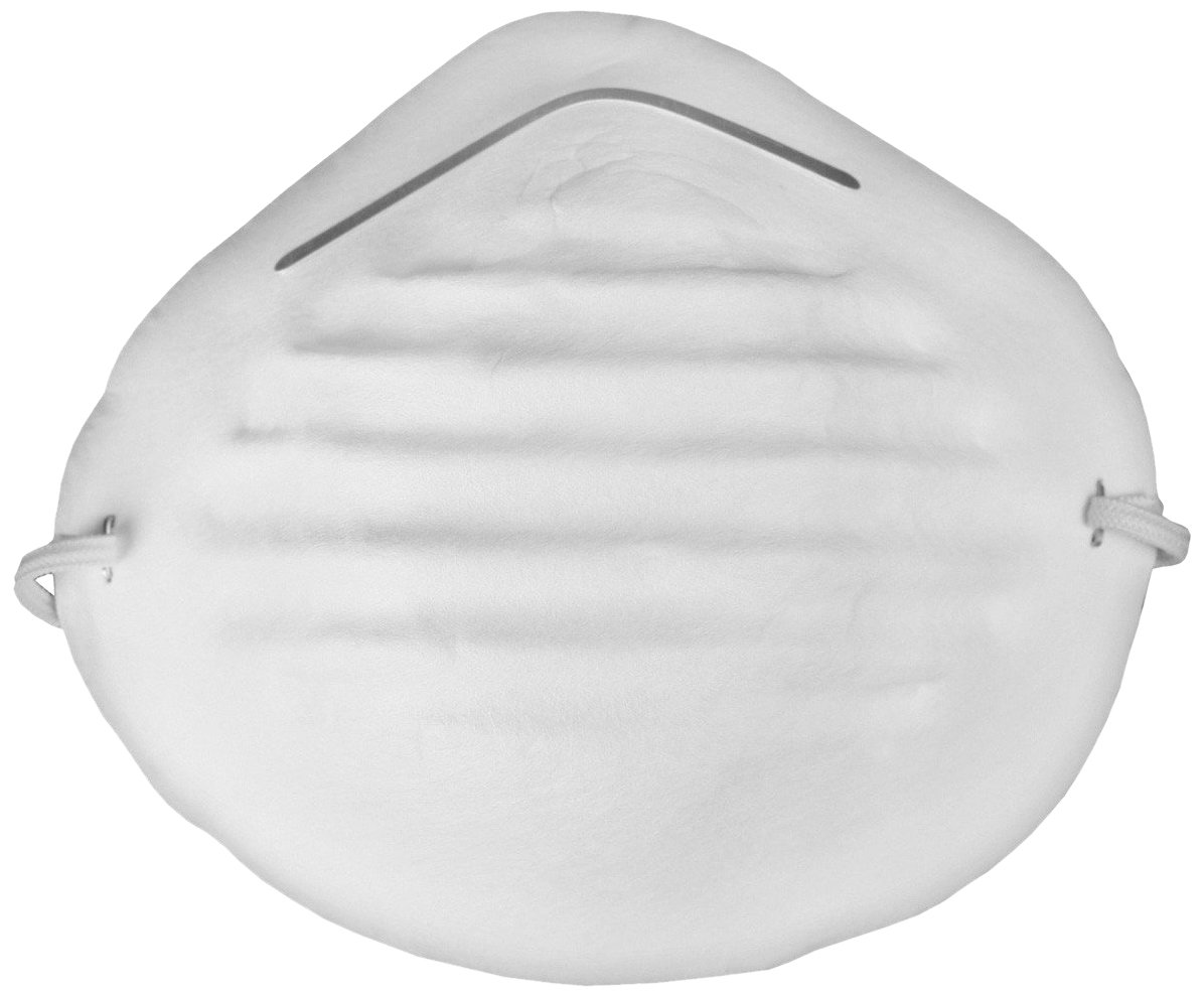 The Safety Zone RS-810 Particulate Disposable Dust Mask with Elastic Back, White (Case of 1000)