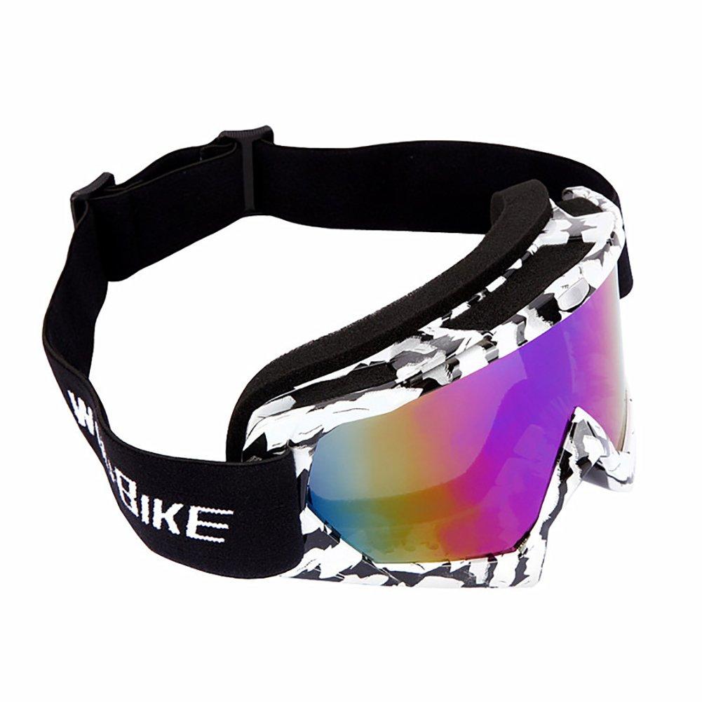 KOOLA Damen Herren Outdoor-Sportarten Sonnenbrille Polarisator UV-Schutz Ski Schutzbrille Motorrad Radfahren (Schwarz-Weiss) QrEiRpUP