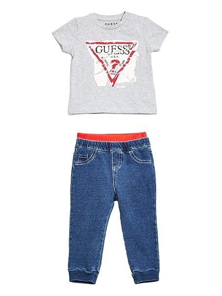 Guess - Conjunto de Camiseta y pantalón con Efecto Vaquero ...