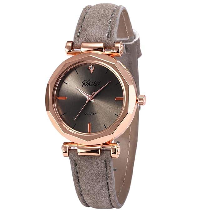 BBestseller Moda Relojes para Mujer, Reloj con Correa de Silicona Geneva Accesorios Acero Pulsera de Malla (Gris): Amazon.es: Relojes