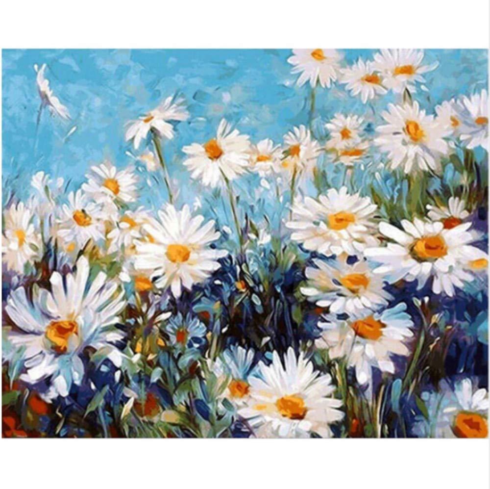 CZYYOU DIY Digital Malen Nach Zahlen Sonnenschein Daisy Ölgemälde Wandgemälde Kits Färbung Wandkunst Bild Geschenk - Mit Rahmen - 40x50cm B07Q1N13KJ | Charakteristisch