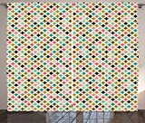 Ambesonne Geometric Curtains, White Backdrop Image of Diamond Colorful Crystal like Triangle Shapes Art Image, Living Room Bedroom Window Drapes 2 Panel Set, 108W X 84L Inches, Multicolor Review