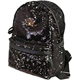 FXTXYMX Cute Backpack Purse PU Leather Sequins Casual Daypacks for Girls