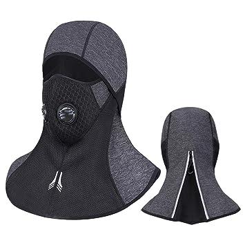 Laxus Máscara de cara pasamontañas, Máscara de cara completa de esquí respirable a prueba de