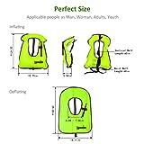 Lyuwpes Inflatable Snorkel Vest Adult Snorkeling