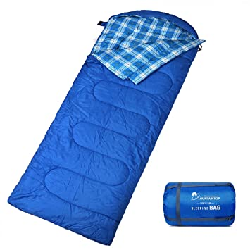 Semoo Saco de dormir para camping ligero forro 290D temperaturas de 6-22 ℃ Verde contiene bolsa de compresi/ón Poli/éster 190T