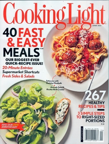 Read Online Cooking Light April 2012 (40 FAST & EASY MEALS!) ebook