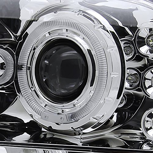 Spec-D Tuning 2LHP-F25099-TM Ford F250 F350 Led Chrome Clear Projector Halo Head Lights by Spec-D Tuning (Image #4)