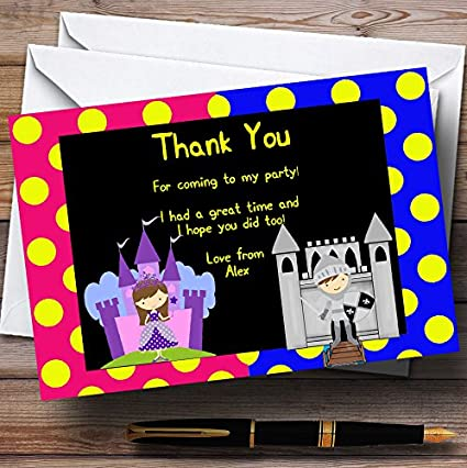 Amazon Princess And Knight Personalized Birthday Party Thank
