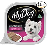 MY DOG Gourmet Beef Wet Dog Food 100g Tray, 24 Pack