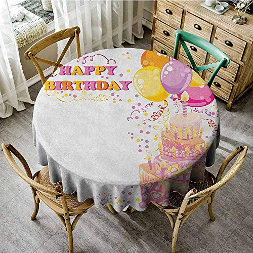 Round Tablecloth Birthday Party 43