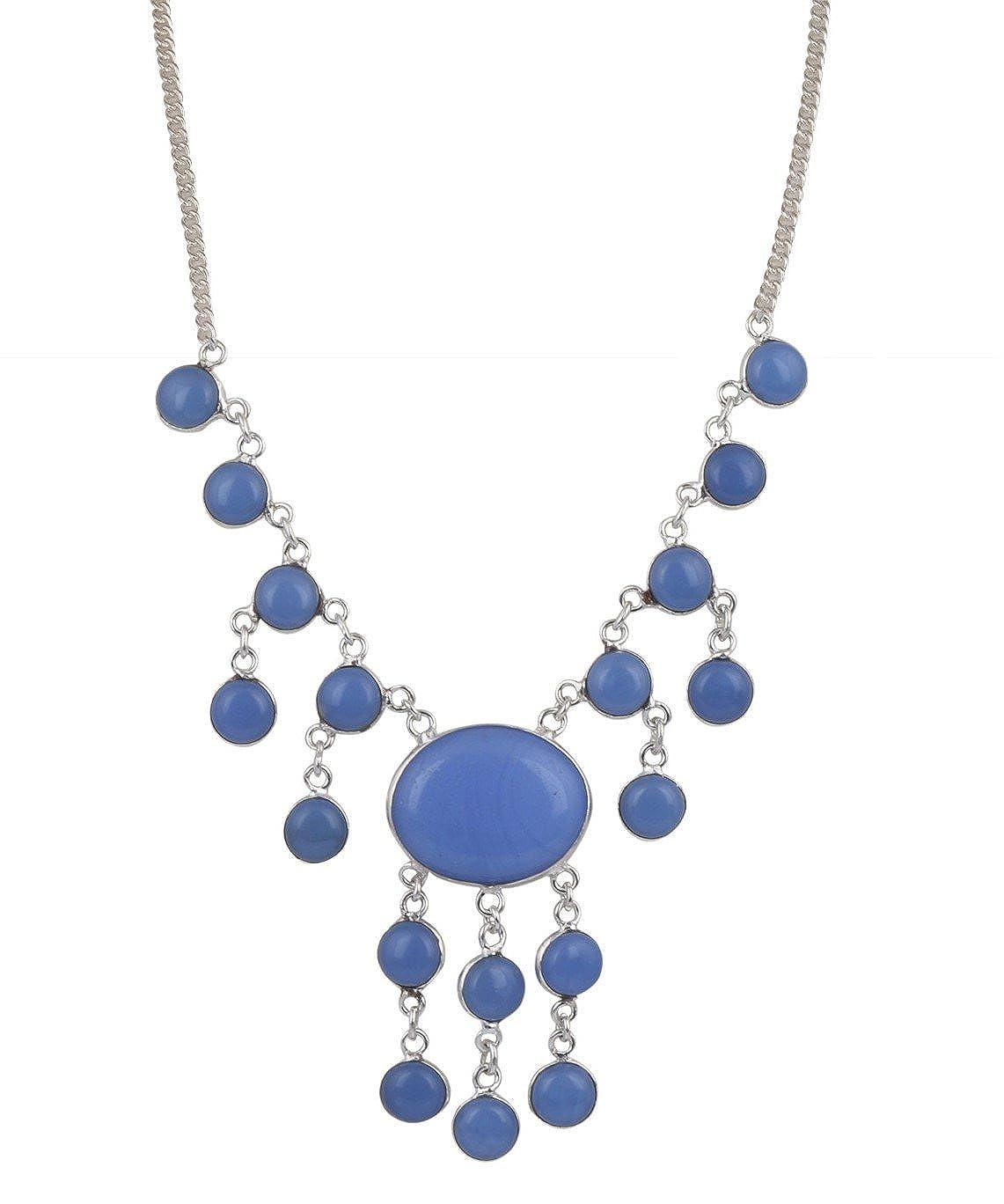 Sansar India Peacock Beads Golden Pendant Indian Necklace Jewelry Girls Women