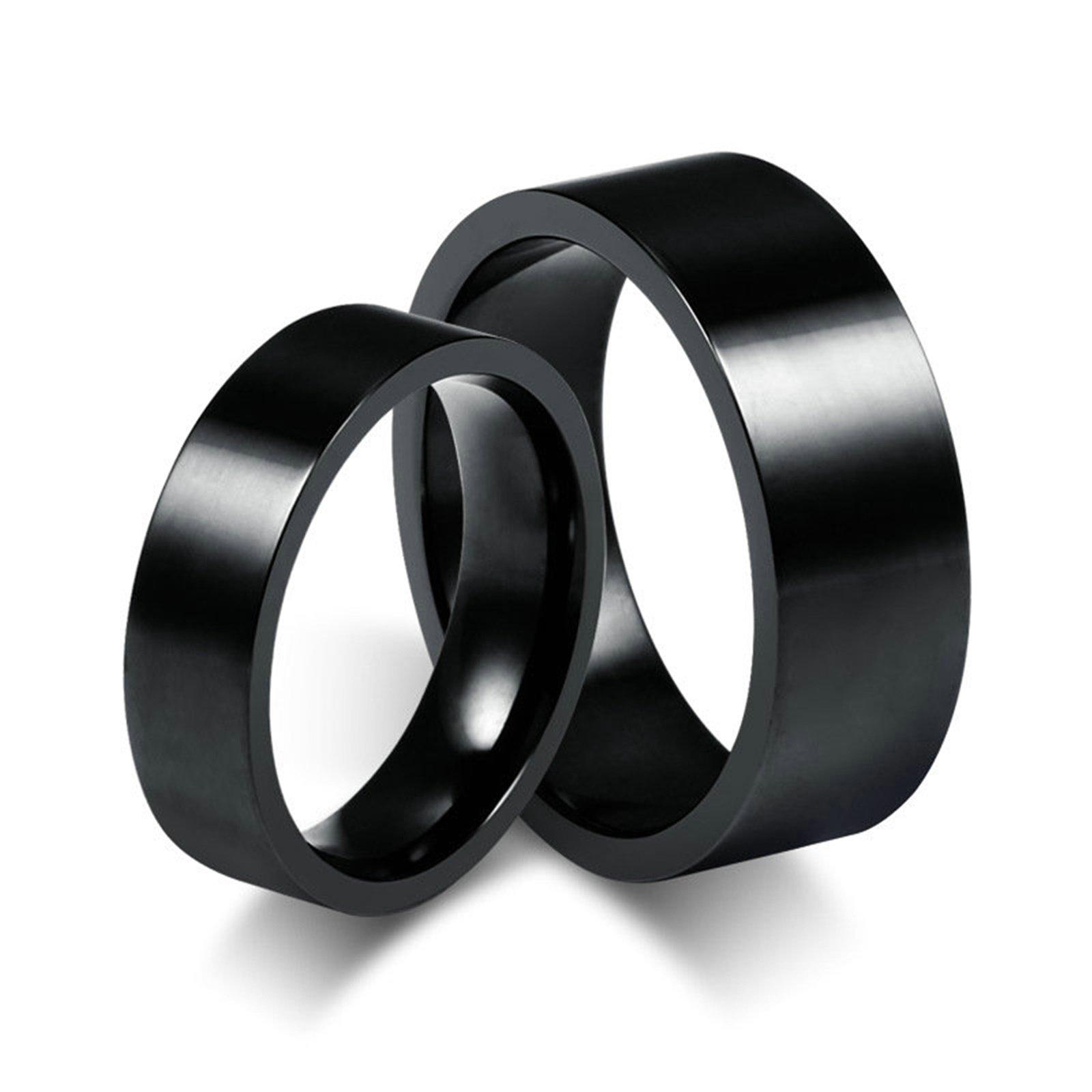 Beydodo 1PCS Stainless Steel Ring 10 Round 8MM Width Wedding Rings Mens Love Ring Band by Beydodo