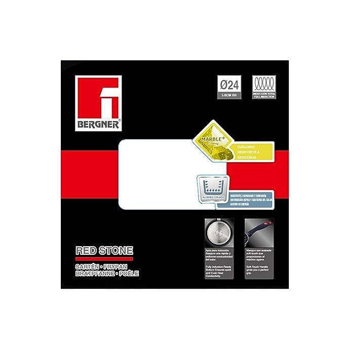 Bergner BG-8371 24 cm Sartén en Aluminio Forjado, 24 x 5 cm, Negro: Amazon.es: Hogar