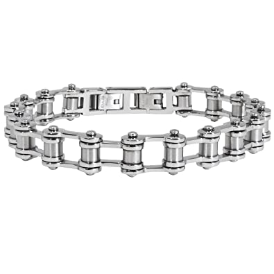 b17be9119242d Amazon.com: Tribal Hollywood Nitro Bike Chain Stainless Steel Link ...