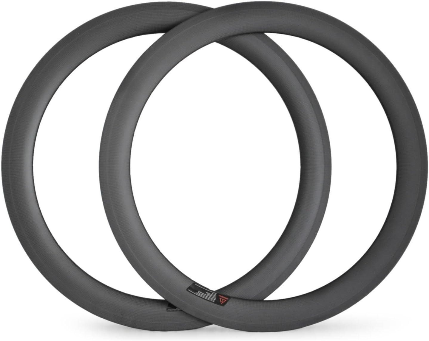 1 par 700 C 60 mm Clincher llantas Tubular bicicleta rueda 23 mm ...