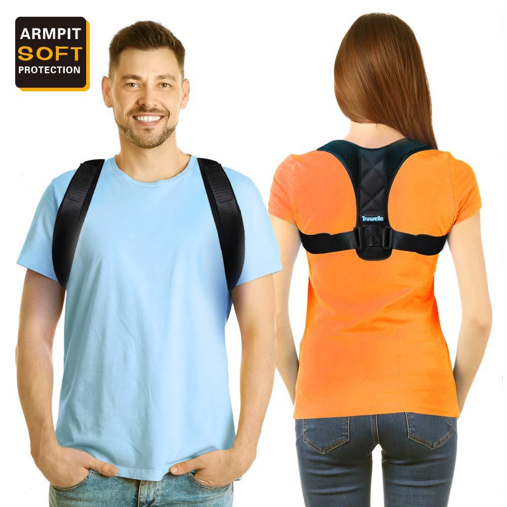 Posture Corrector, Perfect Posture Brace Effective Comfortable Upper Back Support Brace, Adjustable Clavicle Brace for Spinal Shoulder Neck Upper Back Pain Relief for Men and Women(37''-44.5''unisex)