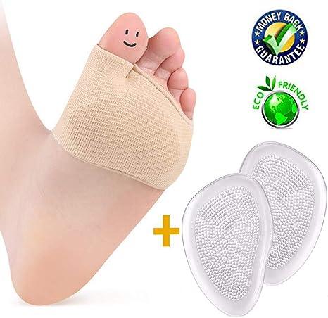 2Pcs//kit Casual Gel Toe Caps Half//All Toe Sleeve Metatarsal Pads Practical Top