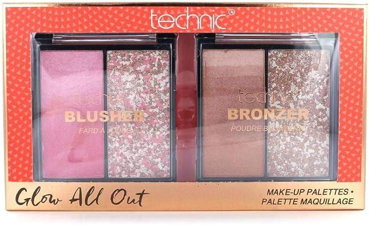TECHNIC Glow All Out Bronzer palette + Blusher palette: Amazon.es: Belleza