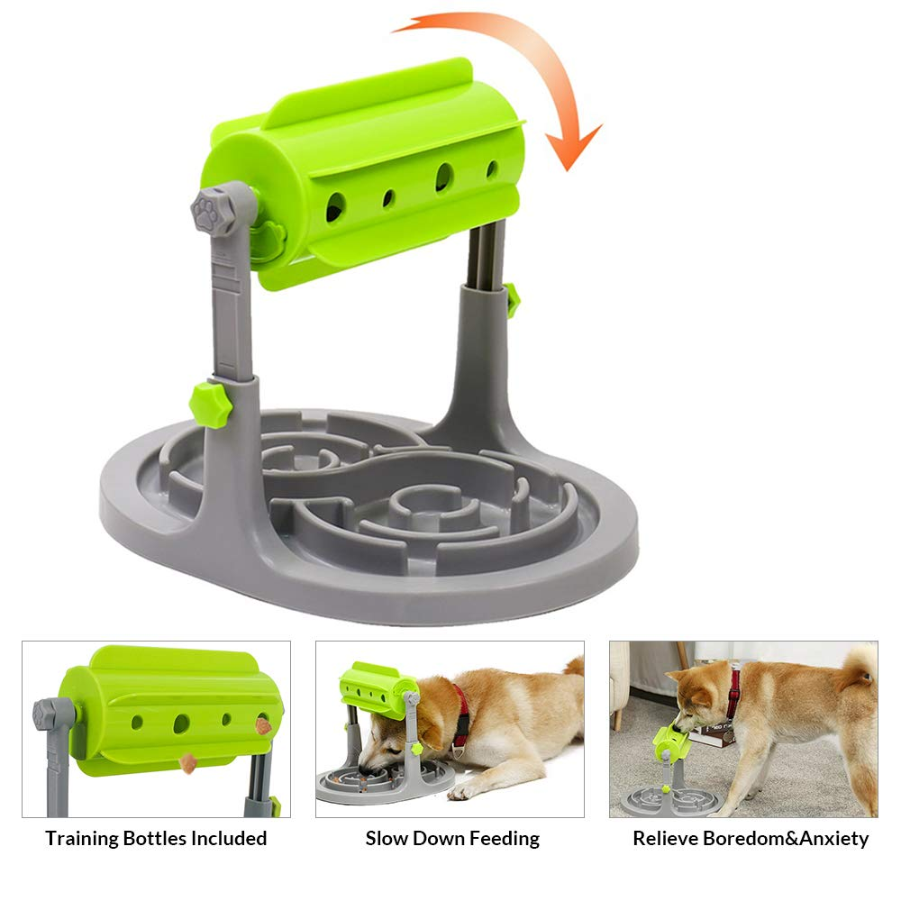 OSPet Interactive Dog Slow Feeder Treat Boredom Dispensing Refillable Food Tough Dog Puzzle Toys Dogs Slow Feeder for Small/Medium Dogs