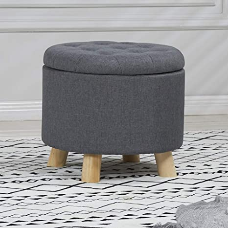 Terrific Amazon Com Visual Taste Round Storage Ottoman European Gmtry Best Dining Table And Chair Ideas Images Gmtryco