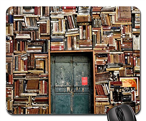 Mouse Pad - Books Door Entrance Italy Colors City - Shipping Italy To Rates Usps